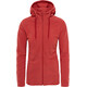 The North Face Mezzaluna Full Zip Hoodie Women Bossa Nova Red Stripe